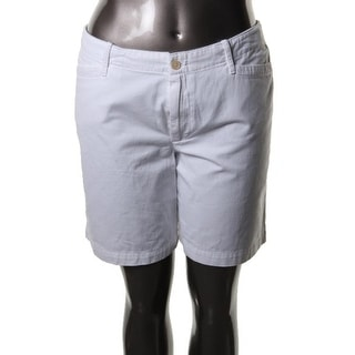 LRL Lauren Jeans Co. Womens Twill Flat Front Casual Shorts - 16