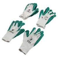 Working Protection Anti-slip Resistant Rubber Palm Dipped Gloves 3 Pairs