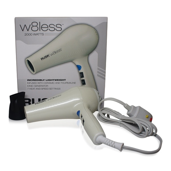 Rusk W8less Professional Lightweight Ceramic Tourmaline Hair Dryer 2000 Watt