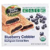 Health Valley Organic Multigrain Cereal Bars - Blueberry Cobbler - Case of 6 - 7.9 oz.