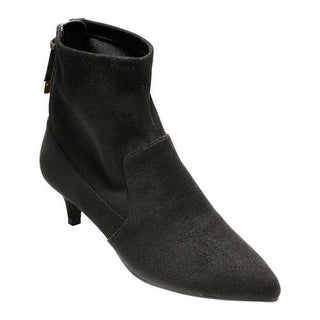Cole Haan Women's Harlow Stretch Bootie Black Stretch Suede