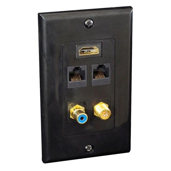 HDMI/Mono RCA Audio/Coaxial/ Dual Ethernet