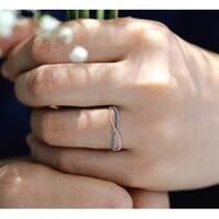 Prism Jewel 0.25Ct Round Real Brown Color Diamond With Diamond Anniversary Ring