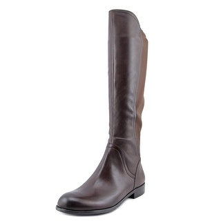 Franco Sarto Marielle Women Round Toe Leather Brown Knee High Boot
