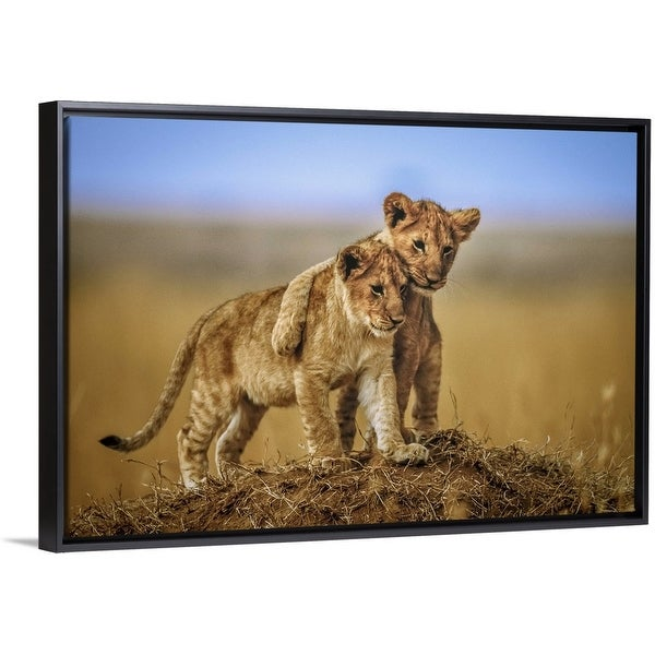 """""""Brothers, For Life"""" Black Float Frame Canvas Art"""