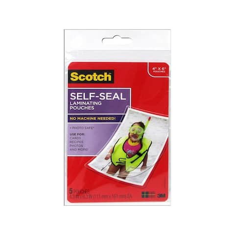 7010369981 scotch photo laminating sheets 4x6 gloss 5pc