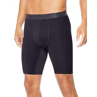 Hanes Sport Men's Performance Compression Shorts - Color - Ebony/Ebony - Size - M