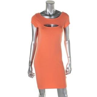 Guess Womens Juniors Open Back Cut-Out Clubwear Dress