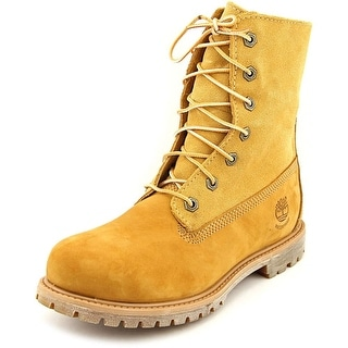 Timberland Auth Teddy Fleece Women Round Toe Leather Tan Work Boot
