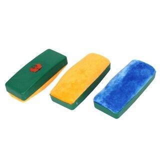 3pcs Plastic Housing Whiteboard Blackboard Cleaner Dry Marker Eraser Tricolor