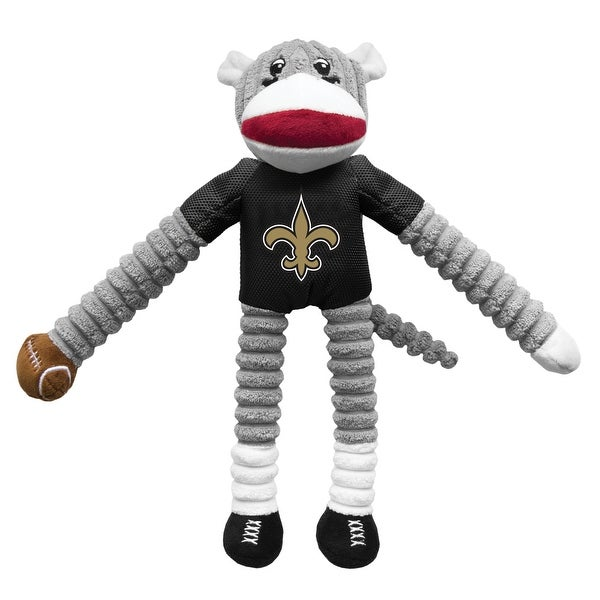 Little Earth NFL Team Sock Monkey Pet Toy, New Orleans Saints - Multi-Color. Opens flyout.