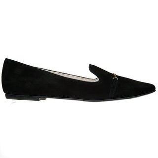Bailarinas DIDY NER Black Suede Loafer Flat