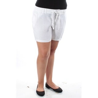 INC $60 Womens New 1345 White Casual Short Plus 8 B+B