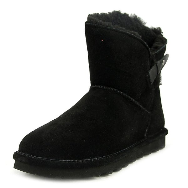 Bearpaw Margaery Women Round Toe Suede Black Snow Boot