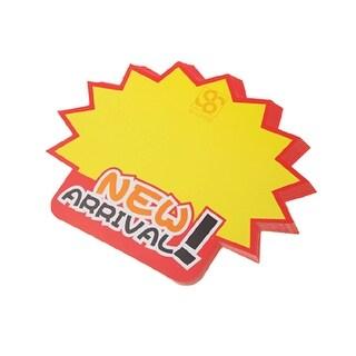 Unique Bargains Advertising 10 pcs Sales Promotion Cards Orange Red