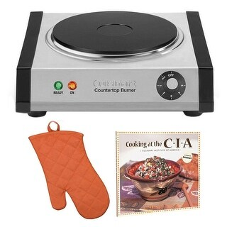Cuisinart CB30 Countertop Single Burner + Free Oven Mitt and Cookbook