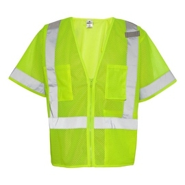 Lime Class 3 Economy Safety Vest