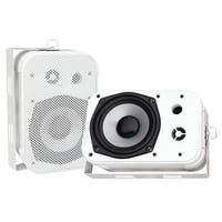 "PYLE PRO PDWR40W 5.25"" Indoor/Outdoor Waterproof Speakers (White)"