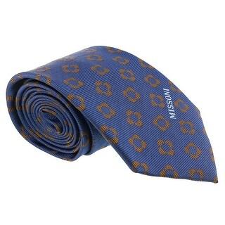 Missoni Four Petal Floral Blue Woven 100% Silk Tie