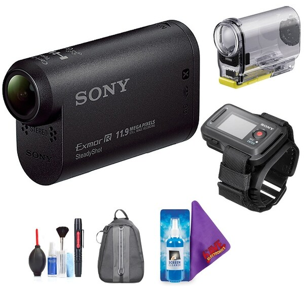 Sony HDR-AS30V Action Cam with Live View Remote + Pro Accessories Bundle. Opens flyout.