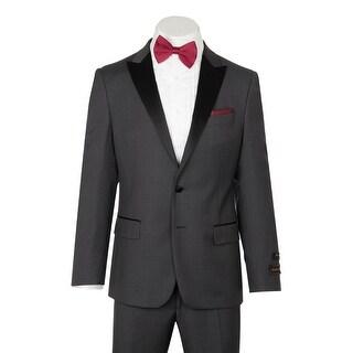 Tufo, Modern Fit, Medium Gray, Pure Wool Tuxedo by Tiglio Luxe TIG1008