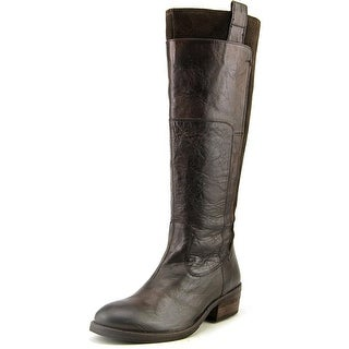 Mia Chandler Women Round Toe Leather Knee High Boot