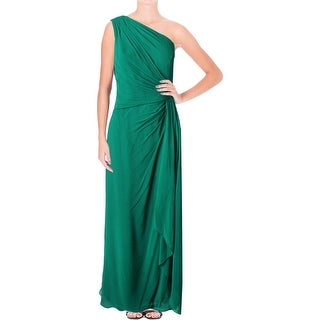 Lauren Ralph Lauren Womens Evening Dress Chiffon Pleated