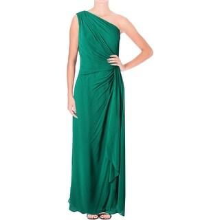Lauren Ralph Lauren Womens Evening Dress Chiffon Pleated