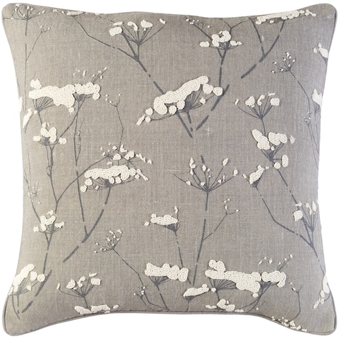 Decorative Pipa Taupe 22-inch Throw Pillow Cover