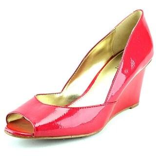 Alfani Kendol Women Open Toe Synthetic Red Wedge Heel