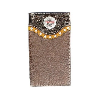 PBR Western Wallet Mens Rawhide Leather Rodeo Mahogany 5621402 - One size