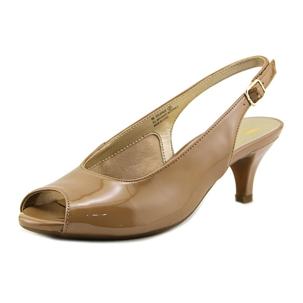 Aerosoles Escapade Women Peep-Toe Patent Leather Nude Slingback Heel