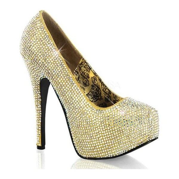 Shop Bordello Women s Teeze 06R Gold Satin Iridescent Rhinestone - Free  Shipping Today - Overstock.com - 7740383 e94b2b4ae4a7