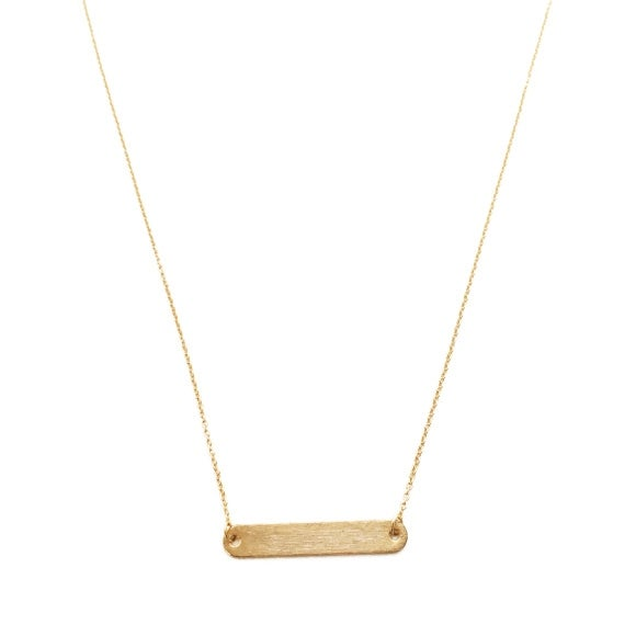 Honeycat Classic Rounded Bar Necklace (Delicate Jewelry)