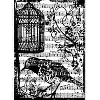 "Bird Song - Tim Holtz Cling Rubber Stamp 2.5""X3.5"""