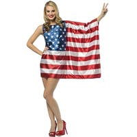 Rasta Imposta USA Flag Dress Adult Costume - Solid - one-size