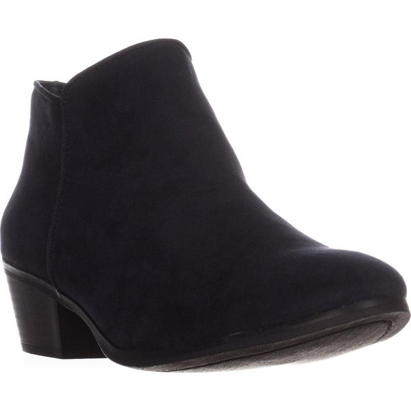 SC35 Wileyy Flat Ankle Boots, Navy