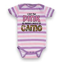 I Put The Pink In Daddy's World Of Camo Infant One Piece