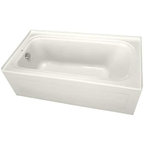 """PROFLO PFS6042LSK 60"""" x 42"""" Alcove Soaking Bath Tub with Skirt and Left Hand Drain"""