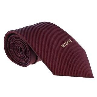 Missoni Interlock Woven Red Woven 100% Silk Tie