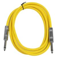 "SEISMIC AUDIO - Yellow 1/4"" TS 6' Patch Cable - Effects - Guitar - Instrument"