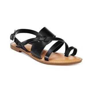 Bar III Womens VOLTAGE Split Toe Casual Strappy Sandals