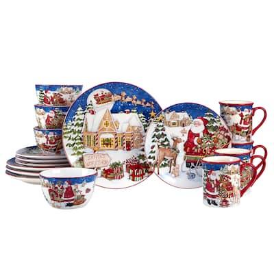 Certified International Santa's Workshop 16 Pc. Dinnerware Set, Service for 4