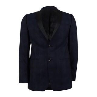 Calvin Klein Men's Plaid Peak Lapel Slim Fit Dinner Jacket - Navy (2 options available)
