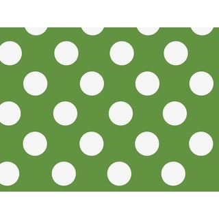 "Pack Of 1, 30"" x 417' Green Dots Stone Wrap Treeless Paper Gift Wrap Counter Roll Made In Usa"
