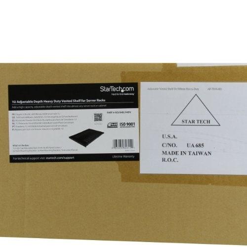 Startech.Com 1U Adjustable Mount Depth Heavy Duty Vented Rack Mount Shelf