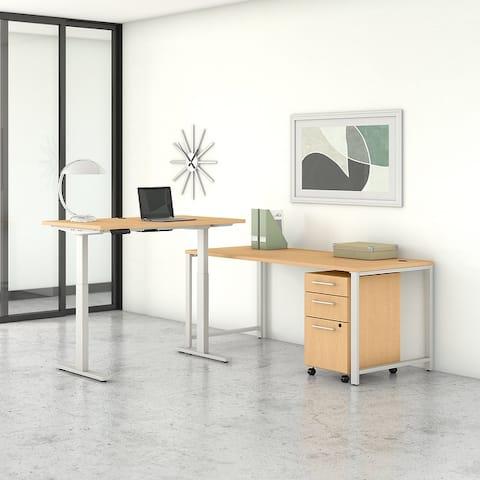 400 Series 72W L Shaped Desk, with Standing Desk Return & Storage