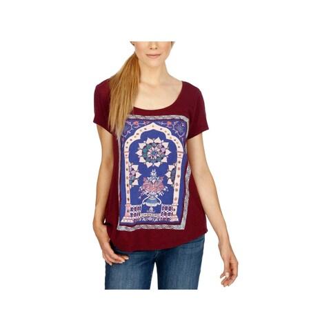 Lucky Brand Womens T-Shirt Graphic Studded