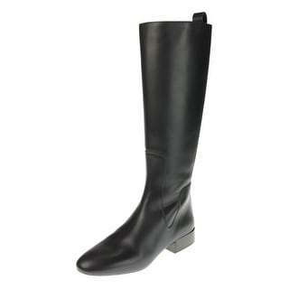 Chloe Womens Leather Riding Knee-High Boots