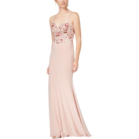 Xscape Womens Formal Dress Embroidered Embellished